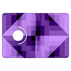 Purple Geometric Cotton Fabric Kindle Fire Hdx Flip 360 Case