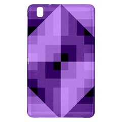 Purple Geometric Cotton Fabric Samsung Galaxy Tab Pro 8 4 Hardshell Case