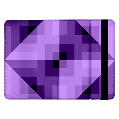 Purple Geometric Cotton Fabric Samsung Galaxy Tab Pro 12 2  Flip Case
