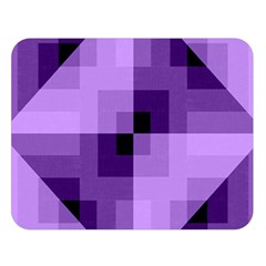 Purple Geometric Cotton Fabric Double Sided Flano Blanket (large)