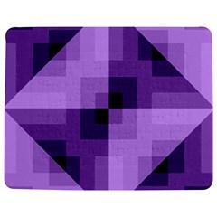 Purple Geometric Cotton Fabric Jigsaw Puzzle Photo Stand (rectangular)