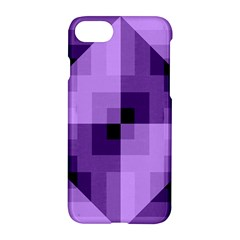 Purple Geometric Cotton Fabric Apple Iphone 7 Hardshell Case