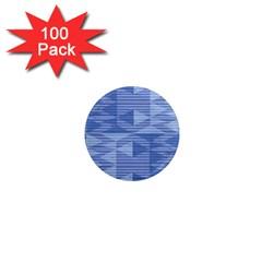 Texture Wood Slats Geometric Aztec 1  Mini Magnets (100 Pack)