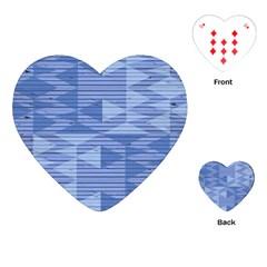 Texture Wood Slats Geometric Aztec Playing Cards (heart)