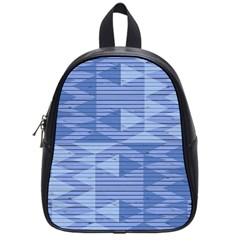 Texture Wood Slats Geometric Aztec School Bag (small)