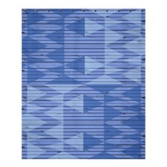 Texture Wood Slats Geometric Aztec Shower Curtain 60  X 72  (medium)