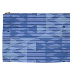 Texture Wood Slats Geometric Aztec Cosmetic Bag (xxl)