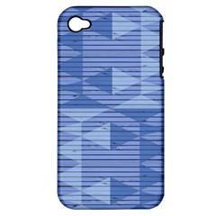 Texture Wood Slats Geometric Aztec Apple Iphone 4/4s Hardshell Case (pc+silicone)