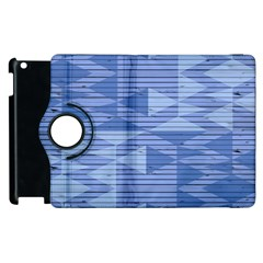 Texture Wood Slats Geometric Aztec Apple Ipad 2 Flip 360 Case