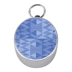 Texture Wood Slats Geometric Aztec Mini Silver Compasses