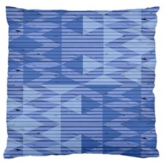 Texture Wood Slats Geometric Aztec Large Flano Cushion Case (one Side)