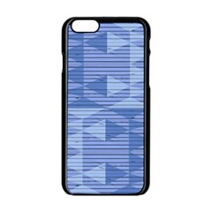 Texture Wood Slats Geometric Aztec Apple Iphone 6/6s Black Enamel Case