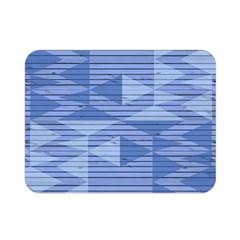 Texture Wood Slats Geometric Aztec Double Sided Flano Blanket (mini)