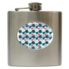 Valentine Valentine S Day Hearts Hip Flask (6 Oz)