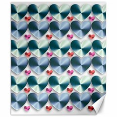Valentine Valentine S Day Hearts Canvas 8  X 10