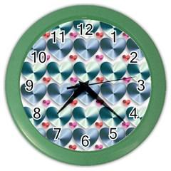Valentine Valentine S Day Hearts Color Wall Clocks