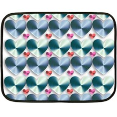 Valentine Valentine S Day Hearts Fleece Blanket (mini)
