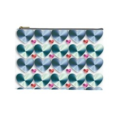 Valentine Valentine S Day Hearts Cosmetic Bag (large)  by Nexatart