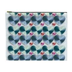 Valentine Valentine S Day Hearts Cosmetic Bag (xl)