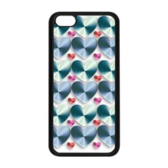 Valentine Valentine S Day Hearts Apple Iphone 5c Seamless Case (black)