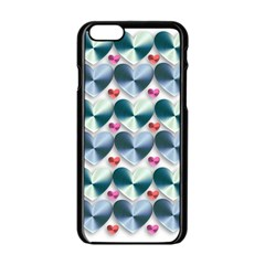 Valentine Valentine S Day Hearts Apple Iphone 6/6s Black Enamel Case by Nexatart