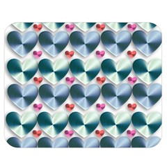 Valentine Valentine S Day Hearts Double Sided Flano Blanket (medium)