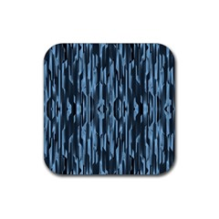 Texture Surface Background Metallic Rubber Coaster (square)