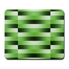 Pinstripes Green Shapes Shades Large Mousepads