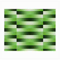 Pinstripes Green Shapes Shades Small Glasses Cloth