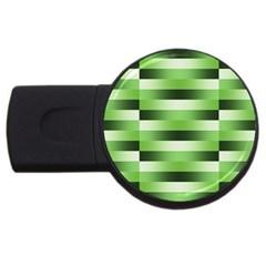 Pinstripes Green Shapes Shades Usb Flash Drive Round (4 Gb)