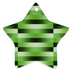 Pinstripes Green Shapes Shades Star Ornament (two Sides)