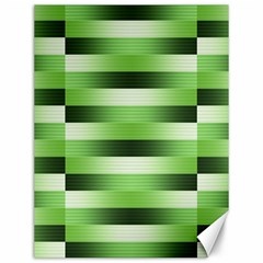 Pinstripes Green Shapes Shades Canvas 12  X 16