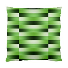 Pinstripes Green Shapes Shades Standard Cushion Case (one Side)