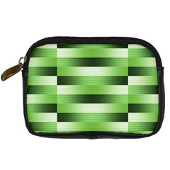 Pinstripes Green Shapes Shades Digital Camera Cases