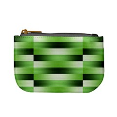 Pinstripes Green Shapes Shades Mini Coin Purses