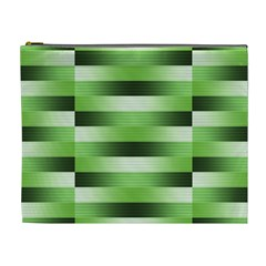 Pinstripes Green Shapes Shades Cosmetic Bag (xl)