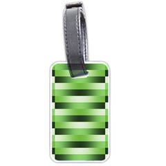 Pinstripes Green Shapes Shades Luggage Tags (one Side)