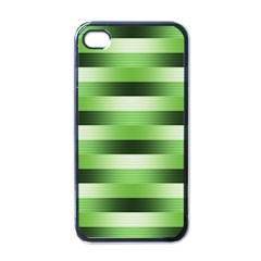 Pinstripes Green Shapes Shades Apple Iphone 4 Case (black)
