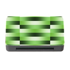 Pinstripes Green Shapes Shades Memory Card Reader With Cf