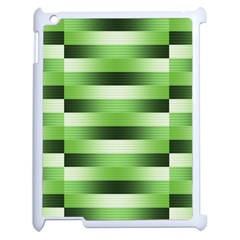 Pinstripes Green Shapes Shades Apple Ipad 2 Case (white)