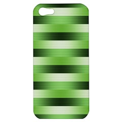 Pinstripes Green Shapes Shades Apple Iphone 5 Hardshell Case by Nexatart