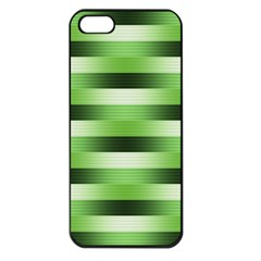 Pinstripes Green Shapes Shades Apple Iphone 5 Seamless Case (black)
