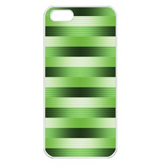 Pinstripes Green Shapes Shades Apple Iphone 5 Seamless Case (white)