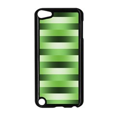 Pinstripes Green Shapes Shades Apple Ipod Touch 5 Case (black)