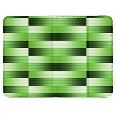 Pinstripes Green Shapes Shades Samsung Galaxy Tab 7  P1000 Flip Case