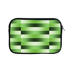 Pinstripes Green Shapes Shades Apple Ipad Mini Zipper Cases