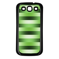 Pinstripes Green Shapes Shades Samsung Galaxy S3 Back Case (black)