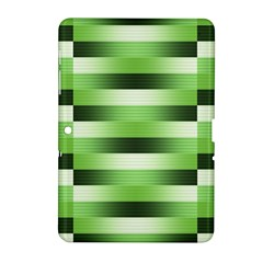 Pinstripes Green Shapes Shades Samsung Galaxy Tab 2 (10 1 ) P5100 Hardshell Case
