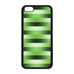 Pinstripes Green Shapes Shades Apple Iphone 5c Seamless Case (black)