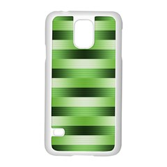 Pinstripes Green Shapes Shades Samsung Galaxy S5 Case (white)